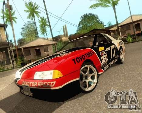 Need for Speed Elegy para GTA San Andreas vista traseira