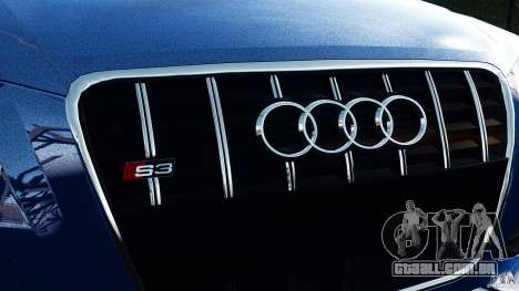 Audi S3 2010 v1.0 para GTA 4 traseira esquerda vista