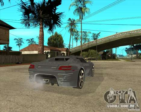 Teoria de Barss Grand turismo para GTA San Andreas traseira esquerda vista