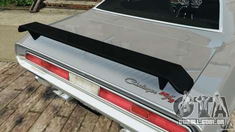 Dodge Challenger RT 1970 v2.0 para GTA 4 rodas
