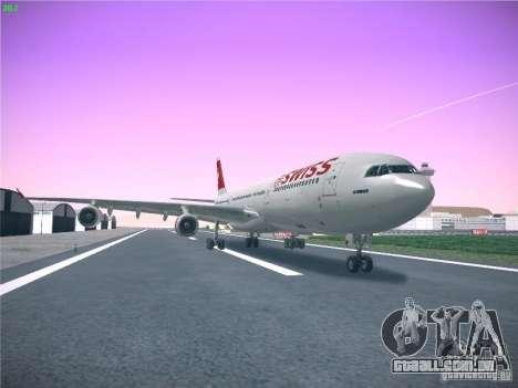 Airbus A340-300 Swiss International Airlines para GTA San Andreas traseira esquerda vista