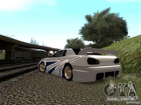 Vinil com o BMW M3 GTR em Most Wanted para vista lateral GTA San Andreas