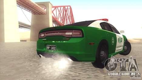 Dodge Charger SRT8 Carabineros para GTA San Andreas traseira esquerda vista