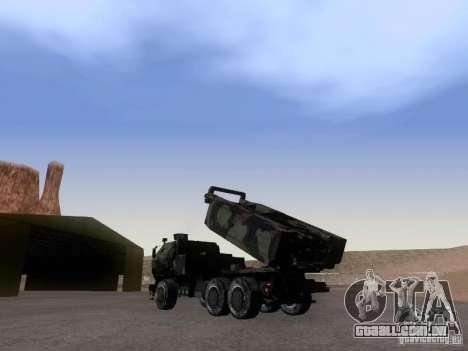 M142 HIMARS Artillery para GTA San Andreas esquerda vista