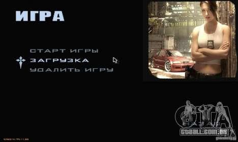 O Menu mais procurado para GTA San Andreas segunda tela