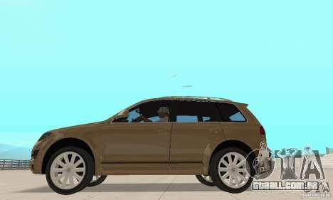 Volkswagen Touareg 2008 para GTA San Andreas traseira esquerda vista