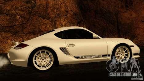 Porsche Cayman R 987 2011 V1.0 para GTA San Andreas vista inferior