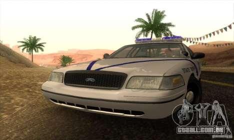 Ford Crown Victoria Arkansas Police para GTA San Andreas traseira esquerda vista