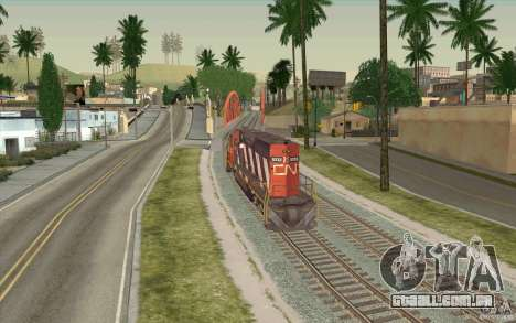 CN SD40 ZEBRA STRIPES para GTA San Andreas vista traseira