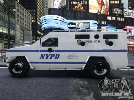 Lenco Bearcat NYPD ESU V.2 para GTA 4 vista direita
