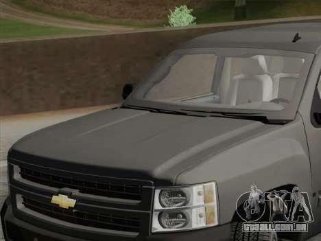 Chevrolet Silverado 2500HD 2013 para vista lateral GTA San Andreas