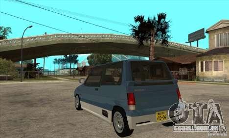 Suzuki Alto Works para GTA San Andreas traseira esquerda vista