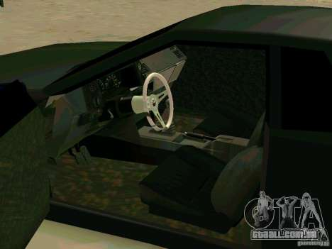 New Elegy para GTA San Andreas vista interior