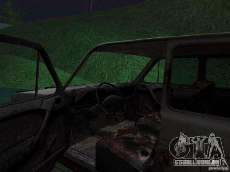 Rusty VAZ NIVA 1982 para GTA San Andreas traseira esquerda vista