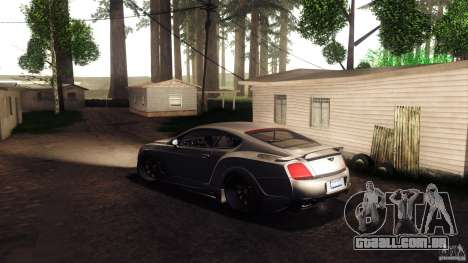 Bentley Continental GT Premier4509 2008 Final para vista lateral GTA San Andreas