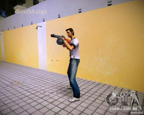 PPSH-41 para GTA Vice City por diante tela