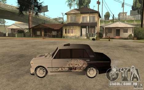 VAZ 2106 duro sintonizado para GTA San Andreas esquerda vista