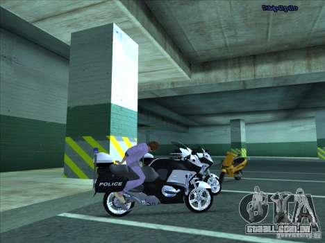 CopBike para GTA San Andreas vista traseira