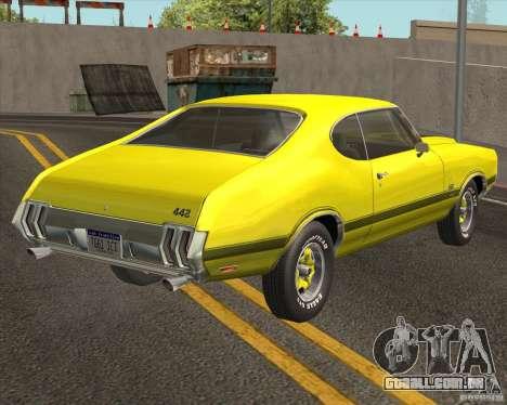 Oldsmobile 442 (fixed version) para GTA San Andreas traseira esquerda vista