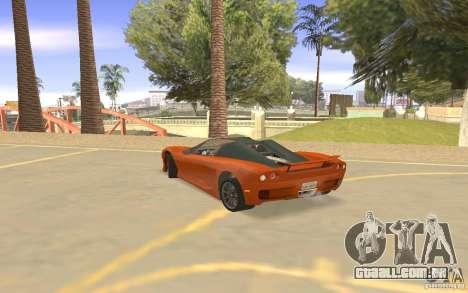 Veloche carro para GTA San Andreas vista traseira
