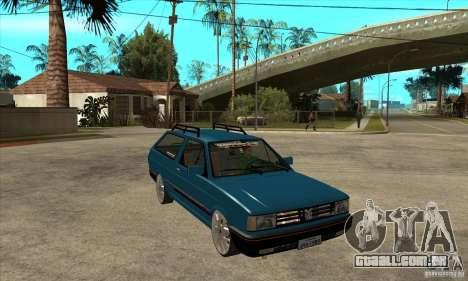 VW Parati GLS 1989 JHAcker edition para GTA San Andreas vista traseira