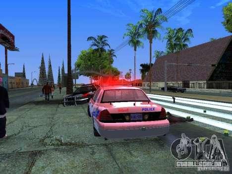 Ford Crown Victoria Police Patrol para GTA San Andreas vista interior