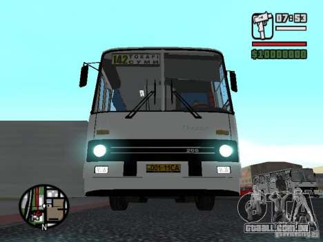Cidade de Ikarus 266 para GTA San Andreas esquerda vista