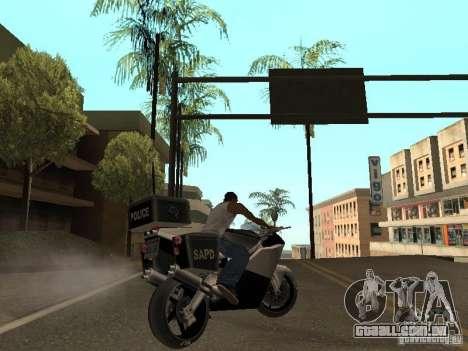 NRG-500 Police para GTA San Andreas vista traseira