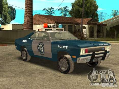 Plymout Duster 340 POLICE v2 para GTA San Andreas vista interior