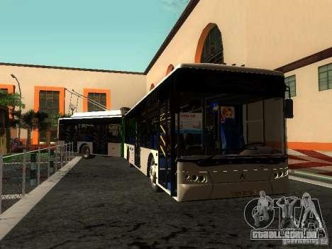 Trólebus LAZ E301 para GTA San Andreas vista inferior