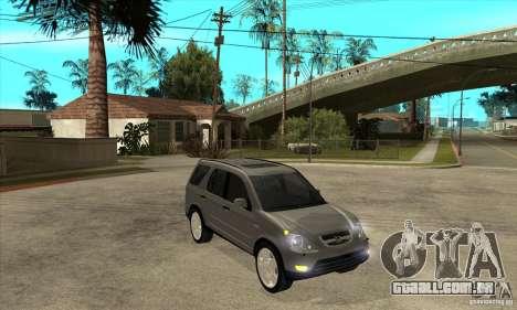 Honda CRV (MK2) para GTA San Andreas vista traseira
