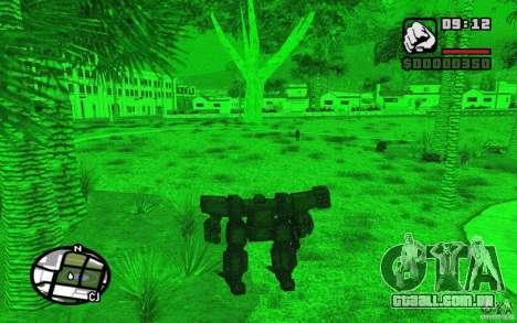 Exoesqueleto para GTA San Andreas quinto tela