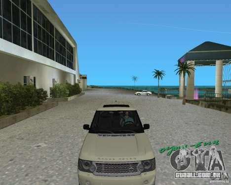 Rang Rover 2010 para GTA Vice City deixou vista
