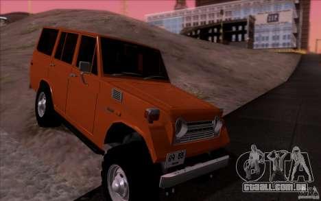 Toyota Land Cruiser FJ55 para GTA San Andreas vista traseira