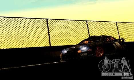 Subaru Impreza WRC 2007 para GTA San Andreas traseira esquerda vista