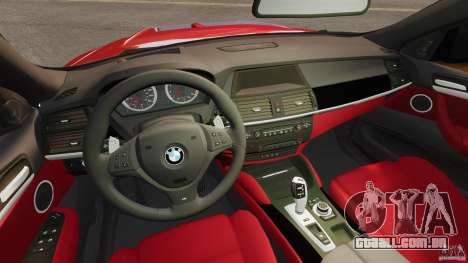 BMW X6 M 2010 para GTA 4 vista de volta