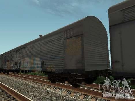 Carroça Refrežiratornyj Dessau n º 8 pintado para GTA San Andreas traseira esquerda vista