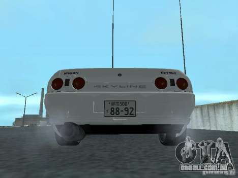 Nissan Skyline R32 Zenki para GTA San Andreas vista direita