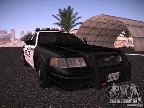 Ford Crown Victoria Police 2003 para GTA San Andreas esquerda vista