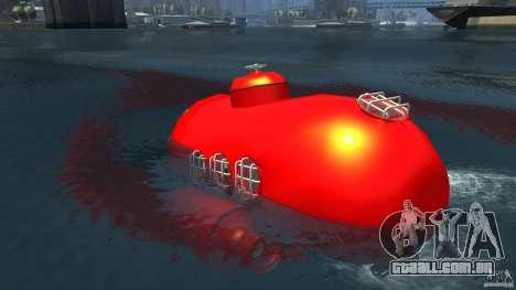 Submarine para GTA 4 traseira esquerda vista