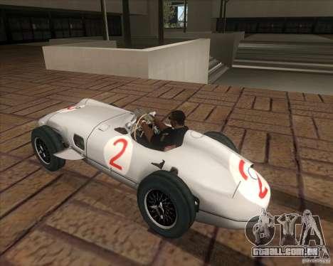 Daimler-Benz AG Juan Manuel Fangio para GTA San Andreas esquerda vista