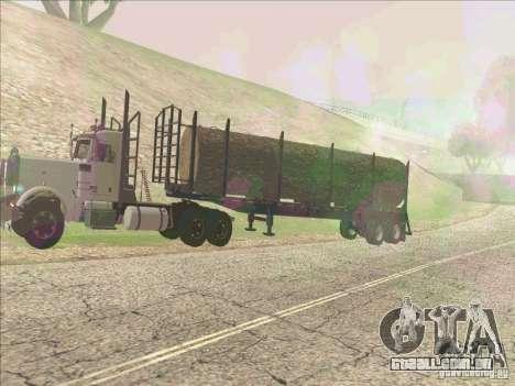 Reboque, Peterbilt 379 para GTA San Andreas esquerda vista