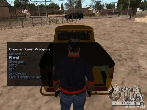 Armas no porta-malas para GTA San Andreas por diante tela
