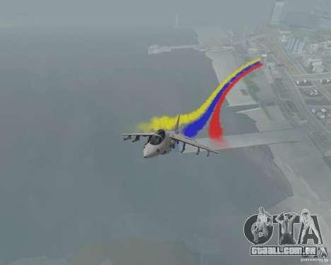 Multi colorido tiras para aeronaves para GTA San Andreas