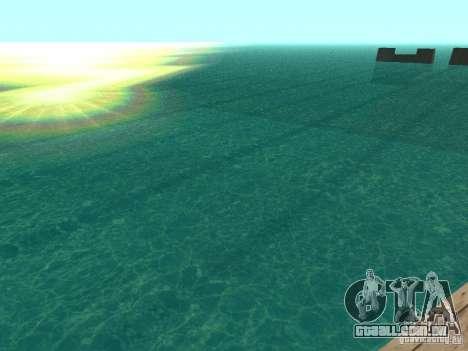 A água de padrão para GTA San Andreas terceira tela
