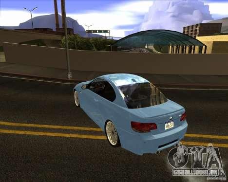 BMW M3 Convertible 2008 para GTA San Andreas traseira esquerda vista