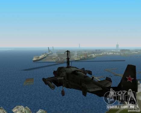 Ka-50 para GTA Vice City deixou vista