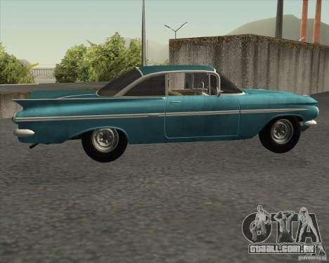 Chevrolet Impala Coupe 1959 Used para GTA San Andreas esquerda vista