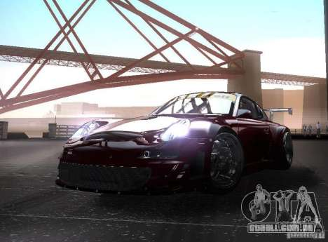 Porsche 911 GT3 RSR RWB para GTA San Andreas traseira esquerda vista
