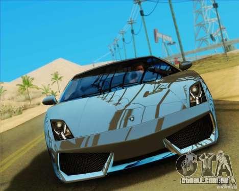 Lamborghini Gallardo LP560-4 para GTA San Andreas vista traseira